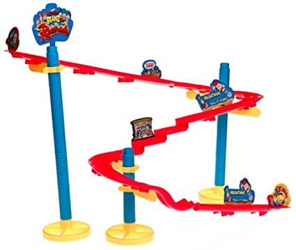 Mooses Mighty Beanz Ultimate Jump Park Race Track with 2 Limited Edition Racing Beanz