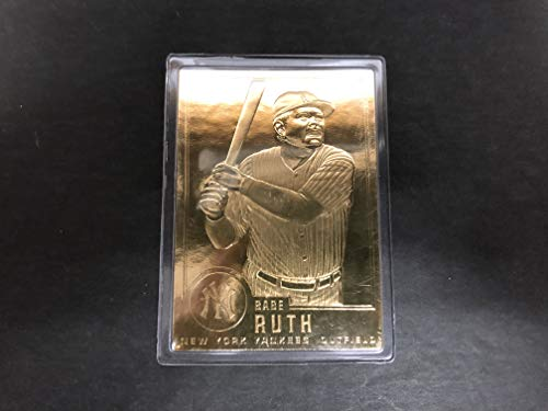 Babe Ruth Limited Edition Babe Ruth 22K Trading Card New York Yankees Legend ()