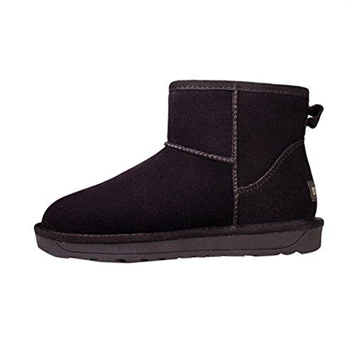Optimal Womens Winter Warm Snow Ankle Boots Chocolate LtQz5HhN3