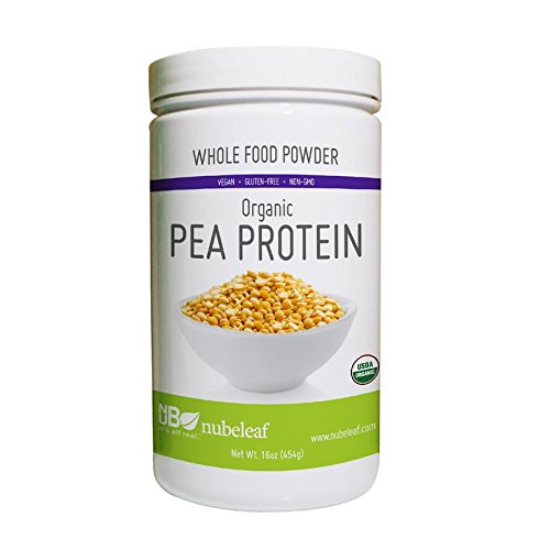 Nubeleaf 80% Pea Protein Powder – Non-GMO, Gluten-Free, Raw, Organic, Vegan Source of Fiber & Essential Amino Acids – Single-Ingredient Nutrient Rich Superfood for Cooking, Baking, Smoothies (16oz) For Sale