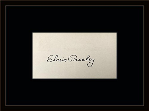 Framed Elvis Presley Autograph with Certificate of Authenticity (Autograph Elvis)