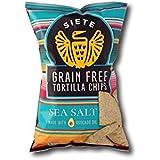 Siete Sea Salt Grain Free Tortilla Chips, 5 oz bags, 6 Pack