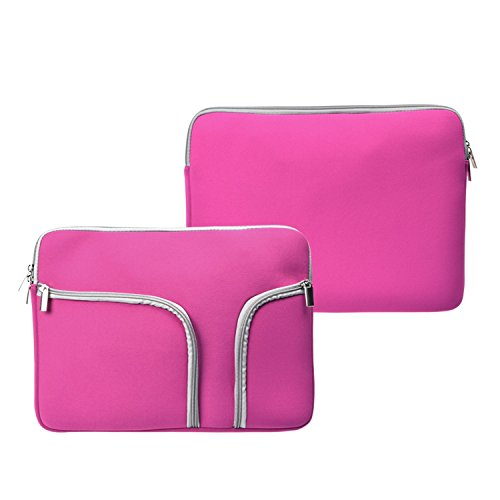 TopCase Handy Zipper Sleeve Bag with Pockets / Compartments for All Laptop 11