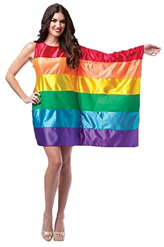 Adult Flag Dress Costume (Rainbow)