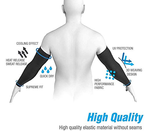 Gadget Deals Black Fully Stretched Skinny Fit sun protection sleeves for men and Women