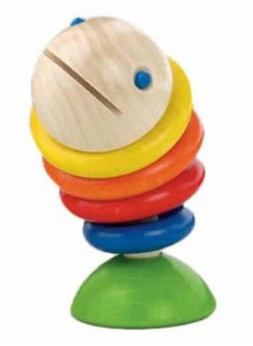 HABA Moby Wooden Fish Rattle