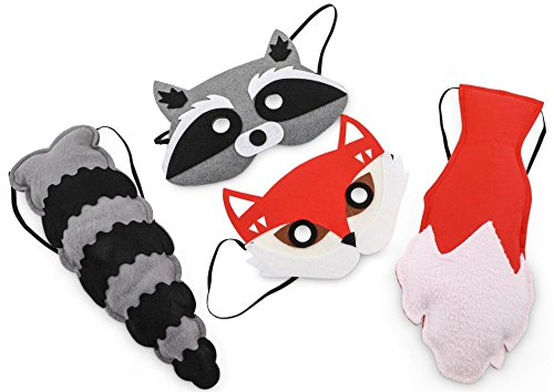 Woodland Friends Raccoon Mask & (Easy Last Minute Halloween Costume Ideas)