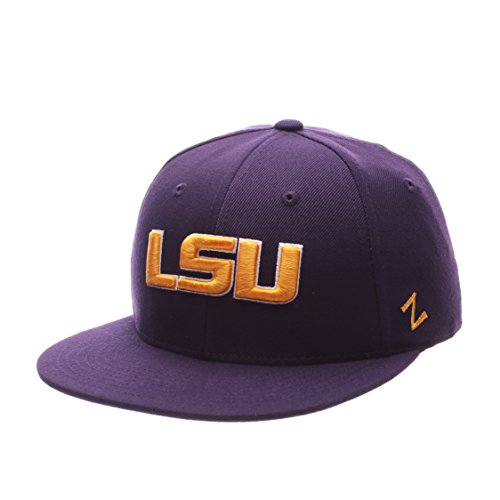 Zephyr NCAA LSU Tigers Men's M15 Fitted Hat, Purple, Size 7 5/8