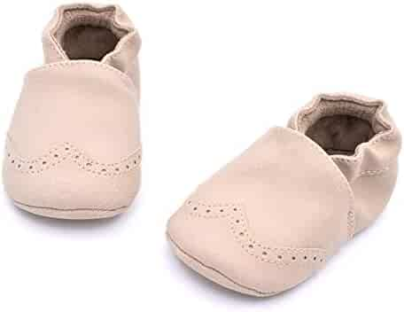 006cc0f4334 Infant Toddler Suede Leather Shoes Kids Girls Boys Prewalker Anti-Slip Soft Sole  Shoes First