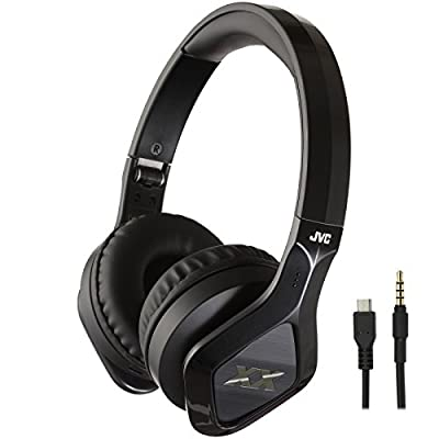 JVC HA-SBT200X XX Elation Series On-ear Wireless Headphones with Remote & Mic (Black) with Ear Buds + Portable Power Pack + Stylus Pen + Cleaning Kit