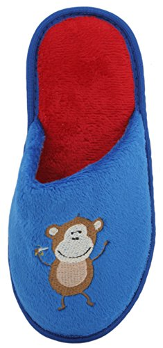 SlumberzzZ - Zapatillas de estar por casa de Material Sintético para niño Azul