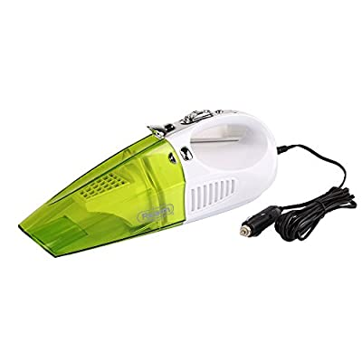 Realm RVC-01 2-in-1 Wet/Dry Handheld Vacuum Cleaner and LED Lighter with Suction Nozzle, Brush and Flexible Tube, 12-Volt