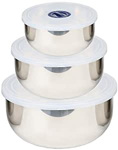 Stainless Steel Mixing Bowl 3 Piece Set - Le Juvo 7 Inch, 6 Inch, 5.5 Inch Set