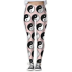 HJUCXSRT New Tai Chi Printing Design Compression Leggings Pants Tights For Women S-XL