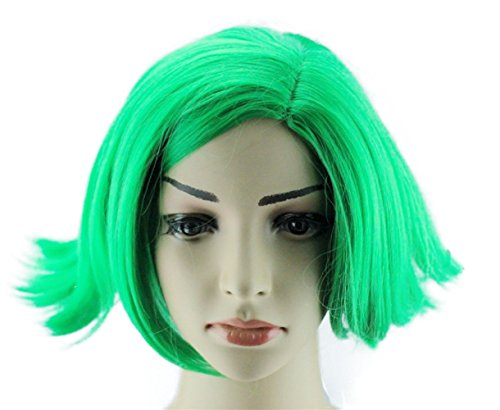 Glameow Adjustable Short Cosplay Wig Blue Green Hair