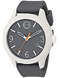 ESQ Movado Unisex 07101446 One Stainless Steel Watch with Grey Silicone Band
