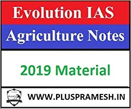 Buy Evolution IAS Agriculture Notes 2019 Batch Book Online