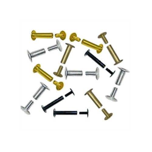 1/4'' Black Aluminum Screw Post Extensions - 100pk