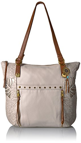 The Sak Ojai Leather Tote - Stone Leaf Cutout - One Size