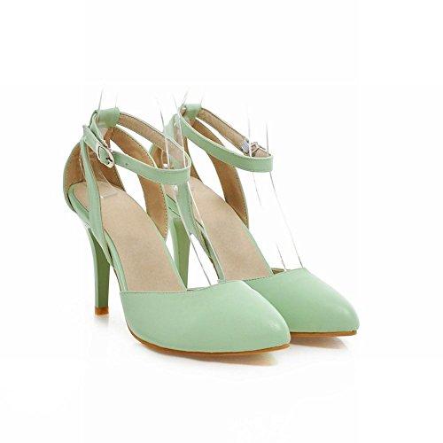 Carolbar Chic Womens Buckle Sexy Fashion Ankle Strap Charming Grace Stiletto Heel Sandals Green fj89FU