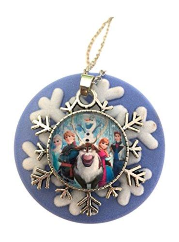 Harper Olivia Pretty Frozen Snowflake Necklace in Velvet Snowflake Gift Box Great for any Disney Princess Lover!