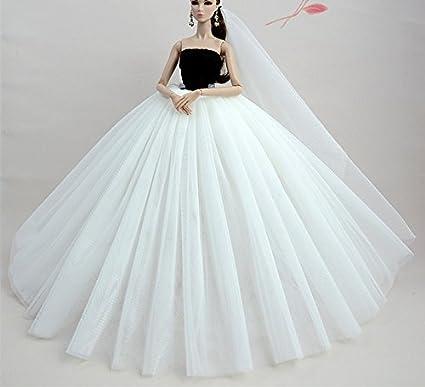 Stillshine Preciosa Vestido de Novia el para Barbie Doll Vestido de Muñeca Ropa Accesorios para Barbie
