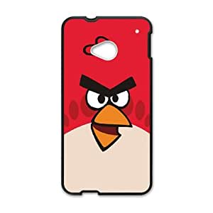 HTC One M7 Cell Phone Case Black Angry Birds Red Bird BNY_6899867