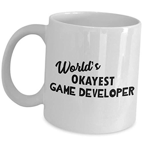 Game Developer Mug - Funny Gifts - Video Gaming Designer Inspirational Coffee Tea Cup Cute Gag Recognition Award Gift Idea Development Design Dev Team Gamer Appreciation for Men -