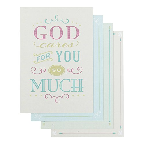 Cards Boxed Christian - DaySpring Encouragement Boxed Greeting Cards w Embossed Envelopes - Clear Message, 12 Count