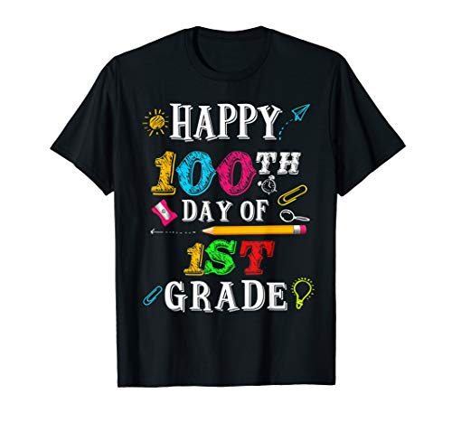 Happy 100th Day of 1St Grade Shirt for Teacher or Child]()