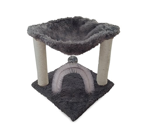 NEW Silver FurHaven Tiger Tough Cat Bed Plush Cat Hammock