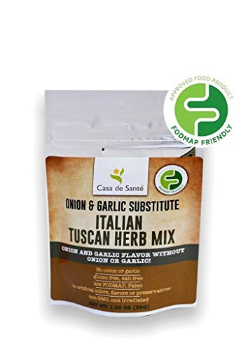 Paleo Seasoning, Healthy Spices for the Low FODMAP Diet (Tuscan Herb Seasoning) - No Onion No Garlic, Gluten-Free, Whole 30, All Natural, Non GMO, Non Irradiated - Casa de Sante (1.25 oz)