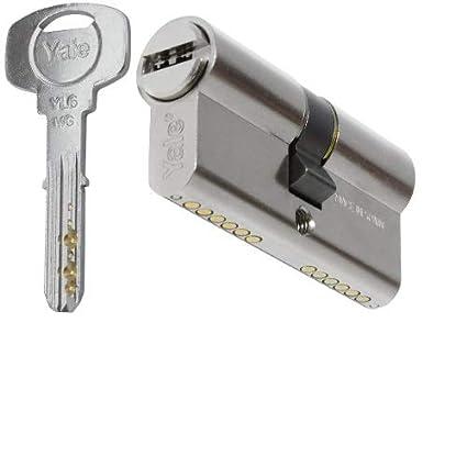Yale YL63040HN - Cilindro de seguridad Antibumping, 30x40mm, Niquelado