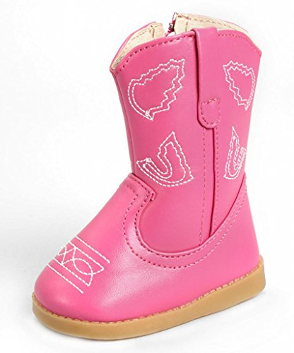 a5ea01459825a Sneak A' Roos Little Girl's Toddler Boot Hot Pink Cowboy PU Boot Size 10
