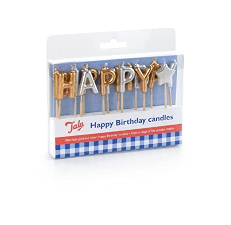 Tala Happy Brithday Candles Amazoncouk Kitchen Home