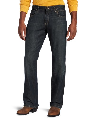 Bootcut Worn In Jeans (Wrangler Men's Jean Mid Rise Relaxed Fit Boot Cut Jean,Worn Black,38x34)