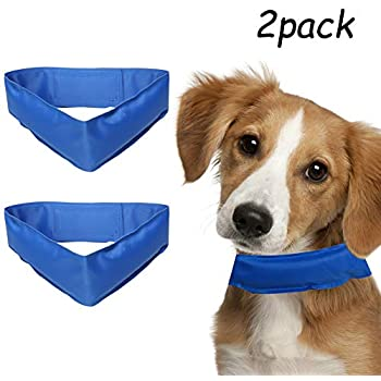 Lamphyface 2 PCS Cooling Dog Collar Summer Chill Out Pet Cool Collar Ice Bandana X-Large
