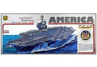 USS Aircraft Carrier America (CVA/CV-66) (Plastic model) Micro Ace(Arii) 1/800 Battleship & Aircraft Carrier|No.11