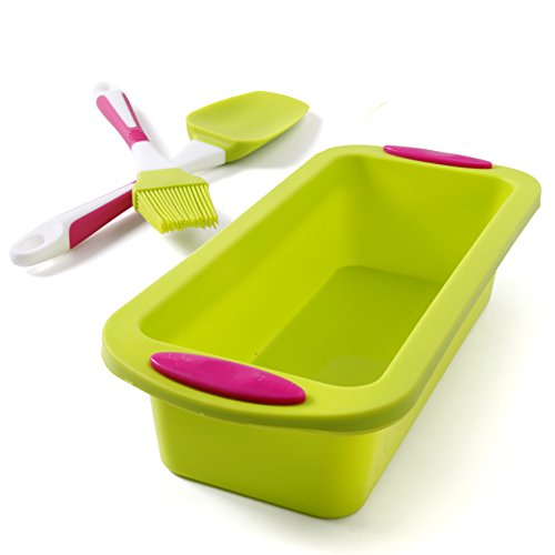 Bread and Loaf Pan Set Nonstick, No odor, Easy baking mold Extra Thick and Solid Silicone