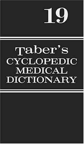 Taber's Cyclopedic Medical Dictionary -Thumb-Indexed Version