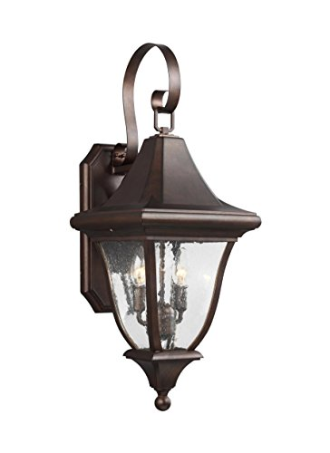 Feiss OL13101PTBZ Two Light Outdoor Wall Lantern, - Wall Patina Bronze Outdoor