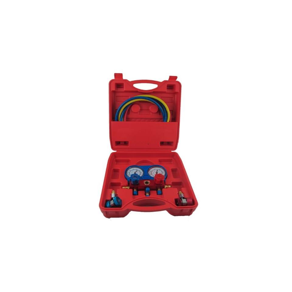 New R 134 AC Manifold Gauge Set Pump R134 R134A + 4 Feet High Performance Hoses