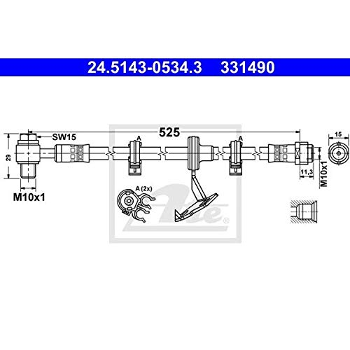 Ate 24.5143-0534.3 Tubo Flessibile e Accessori Freni