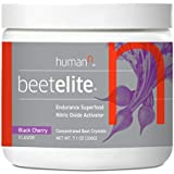 HumanN BeetElite Superfood Concentrated Beet Powder Nitric Oxide Boosting Athletic Endurance Supplement (Black Cherry…