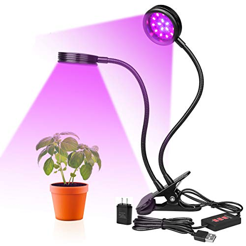 LED Grow Lights AriesTech Plant Lamp 12W with 3...