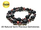 Auras by Osiris - Onyx and Red Tiger Eye Beaded
