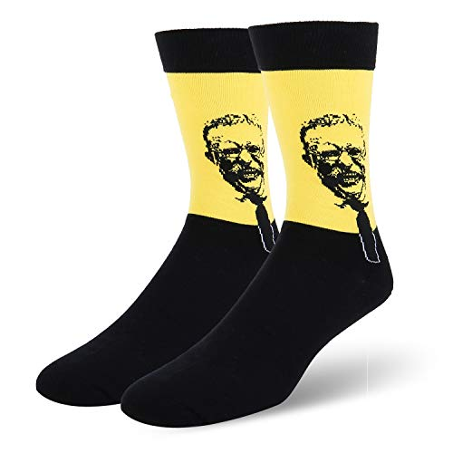 - Mens Novelty Dress Socks Roosevelt Presidents Cultural Funny Crazy Colorful Casual Cotton Crew Socks for Party Office 1 Pack