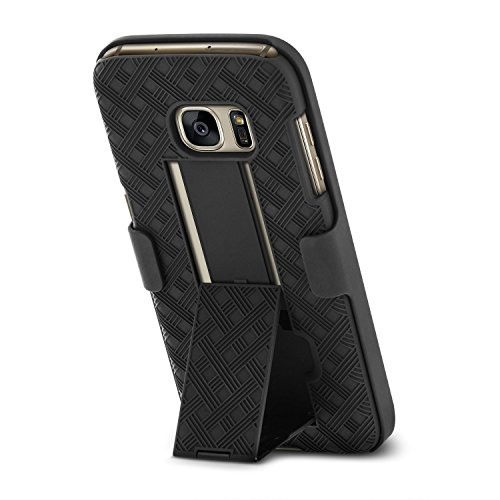 Galaxy S7 Case, Aduro Shell & Holster COMBO Case Super Slim Shell Case w/Built-In Kickstand + Swivel Belt Clip Holster for Samsung Galaxy S7 by Aduro (Image #3)