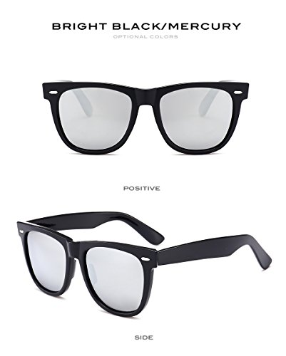 Fygrend de Classic unisexe P¨ºche G15 lunettes polaris¨¦es Lunettes Hommes Vintage Brillant soleil Lunettes Femmes 2140 soleil UV400 sportive pour Noir Mirror Miroir conduite wIIdqr