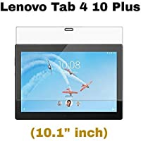 "M.G.R.J® Tempered Glass for Lenovo Tab 4 10 Plus (10.1"" inch) - Full Screen Coverage & Easy Installation Kit"